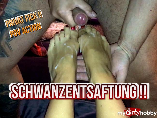 Sperma Explosion auf meine Füße ...